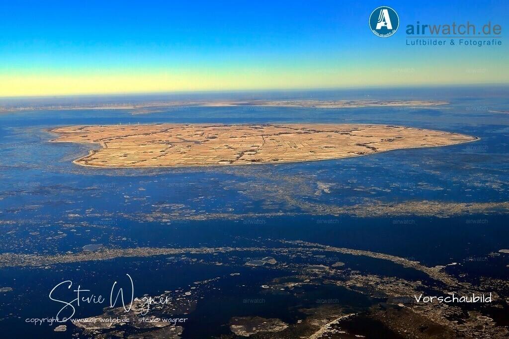 Winter Luftbilder, Nordsee, Nordfriesland, Pellworm   Winter Luftbilder, Nordsee, Nordfriesland, Pellworm