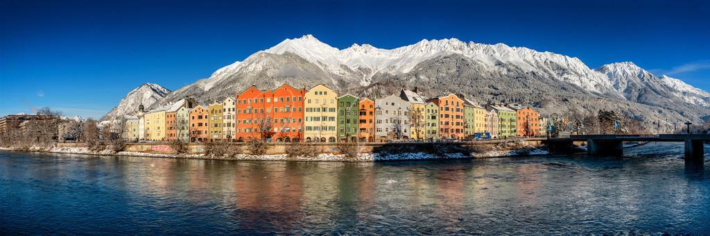 Innsbruck | Panorama von Mariahilf und der tief verschneiten Nordkette