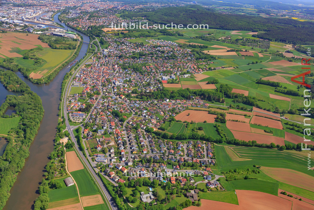 bischberg-18-329   aktuelles Luftbild von  Bischberg - Luftaufnahme wurde 2018 von https://frankenair.de mittels Flugzeug (keine Drohne) erstellt.