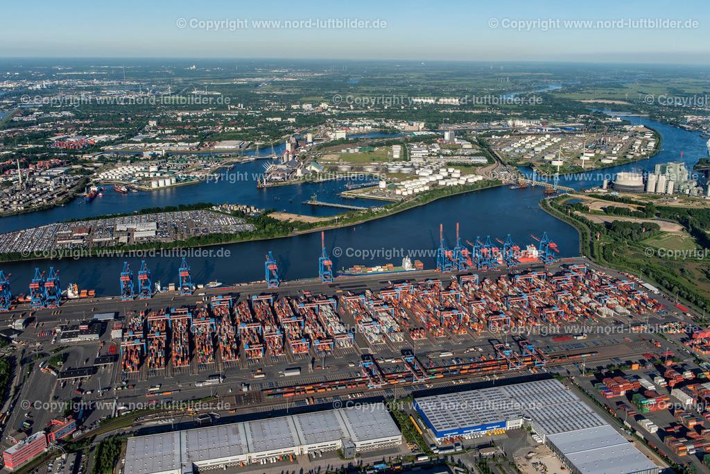 Hamburg Altenwerder HHLA_CTA_ELS_0713030617   Hamburg - Aufnahmedatum: 01.06.2017, Aufnahmehöhe: 530 m, Koordinaten: N53°30.373' - E9°54.873', Bildgröße: 6957 x  4643 Pixel - Copyright 2017 by Martin Elsen, Kontakt: Tel.: +49 157 74581206, E-Mail: info@schoenes-foto.de  Schlagwörter:Hamburg,Luftbild, Luftbilder, Deutschland