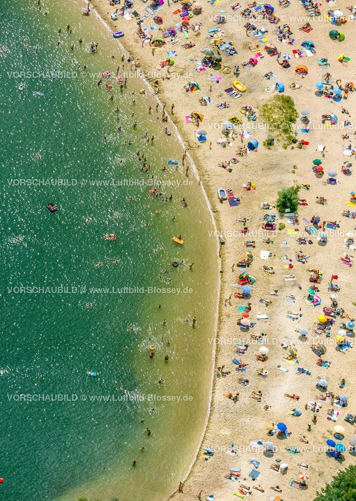 Haltern13081738 | Silbersee II aus der Luft, Sandstrand und türkisfarbenes Wasser, Luftbild von Haltern am See