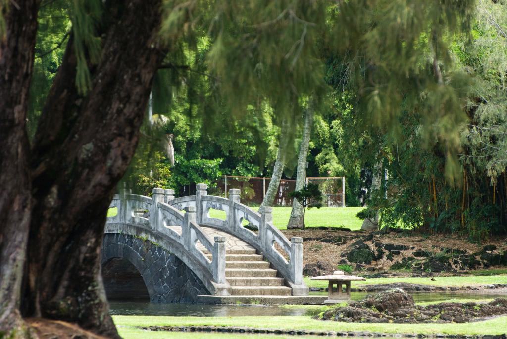 Kreativität 15 | Brücke Liliuokalani Gardens, Big Island, Hawai'i