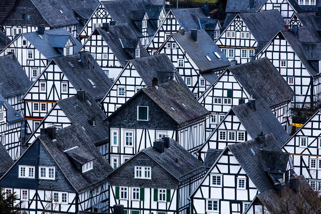 JT-160225-326 | Historische Altstadt von Freudenberg, Alter Flecken, Siegerland, Kreis Siegen-Wittgenstein, Fachwerkhaus Kulisse,