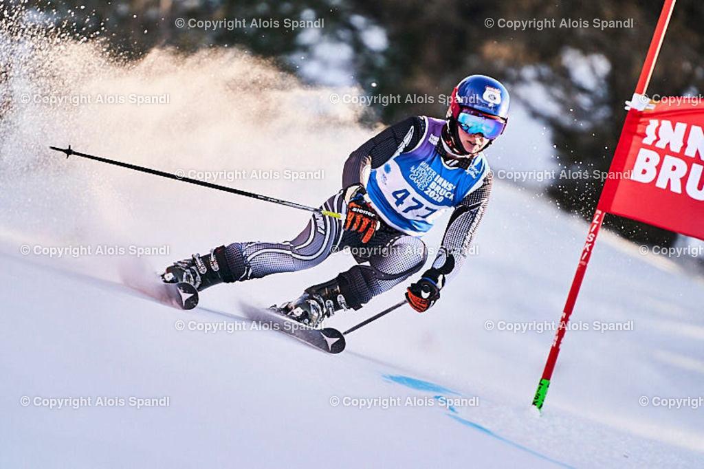 ALS6074_WWMG_GS-II_C | (C) FotoLois.com, Alois Spandl, WinterWorldMastersGames 2020 Innsbruck, Giant Slalom-II Gruppe C Damen, Patscherkofel Olympiaabfahrt, Mi 15. Jänner 2020.