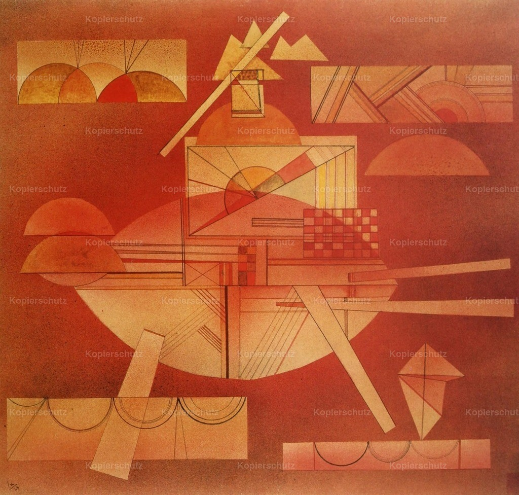 Kandinsky_ Wassily (1866-1944) - In the Heavy Red 1928