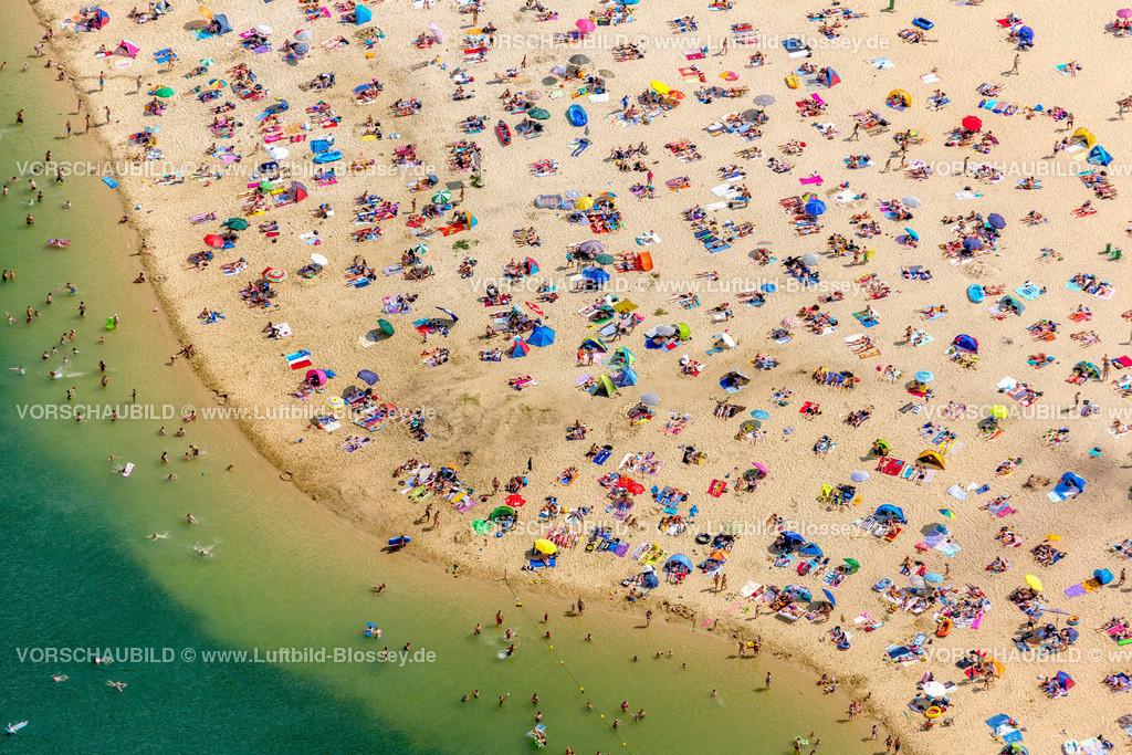 Haltern13081756 | Silbersee II aus der Luft, Sandstrand und türkisfarbenes Wasser, Luftbild von Haltern am See