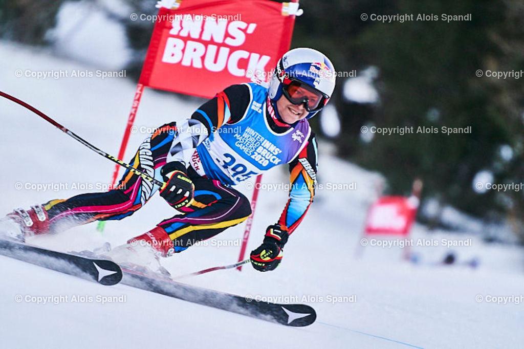 ALS5658_WWMG_GS-II_C   (C) FotoLois.com, Alois Spandl, WinterWorldMastersGames 2020 Innsbruck, Giant Slalom-II Gruppe C Damen, Patscherkofel Olympiaabfahrt, Mi 15. Jänner 2020.
