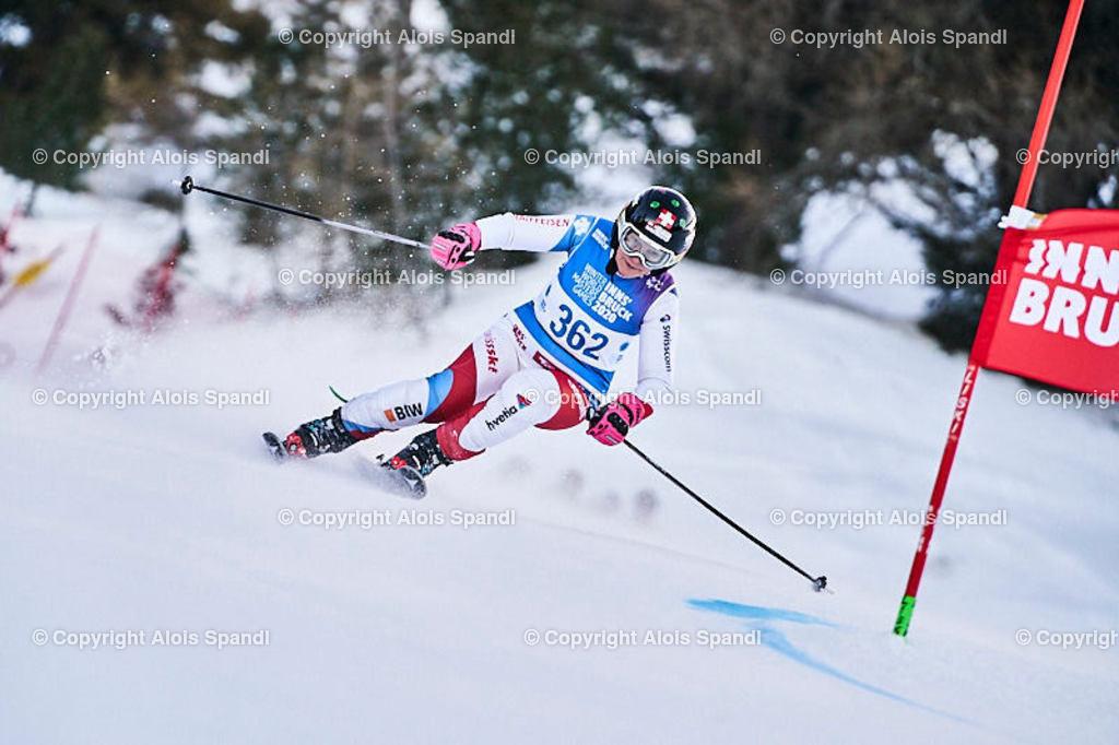 ALS5460_WWMG_GS-II_C | (C) FotoLois.com, Alois Spandl, WinterWorldMastersGames 2020 Innsbruck, Giant Slalom-II Gruppe C Damen, Patscherkofel Olympiaabfahrt, Mi 15. Jänner 2020.