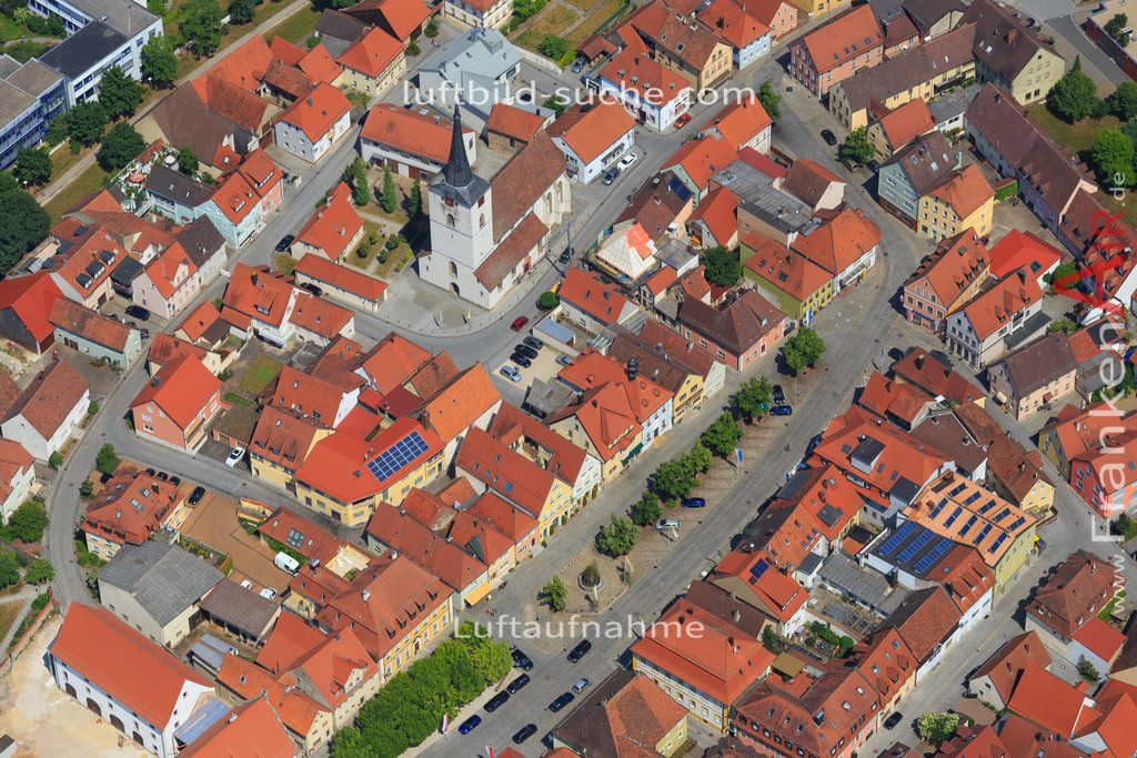 schluesselfeld-2015-1626 | Luftbild von  Schluesselfeld - Luftaufnahme wurde 2015 von https://frankenair.de mittels Flugzeug (keine Drohne) erstellt - die Geschenkidee