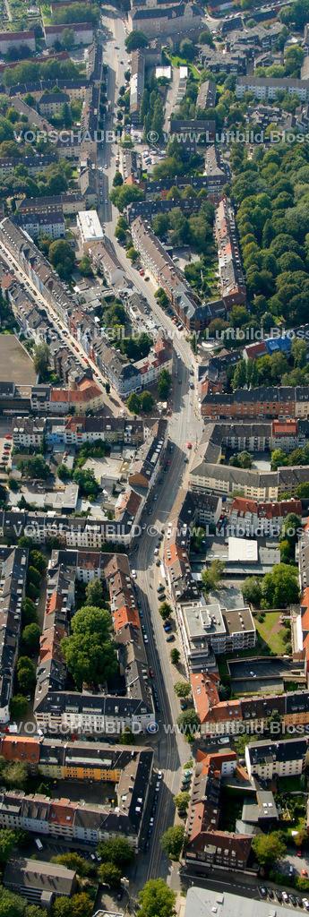 ES10094240a | Frohnhauseer Strasse, Luftbild,  Essen, Ruhrgebiet, Nordrhein-Westfalen, Germany, Europa, Foto: hans@blossey.eu, 05.09.2010