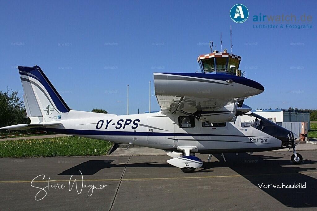 Flughafen Husum, Bioflight, Vulcanair P68 | Flughafen Husum, Bioflight, Vulcanair P68, Flughafen Husum, JABO G 41, LeKG 41, FlaRakG • max. 4272 x 2848 pix
