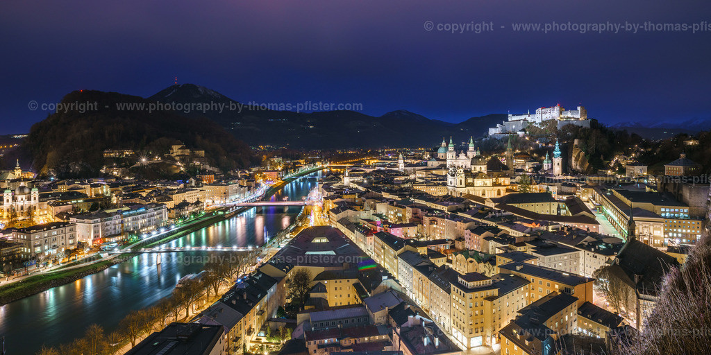 Salzburg Mönchsberg am Abend-1