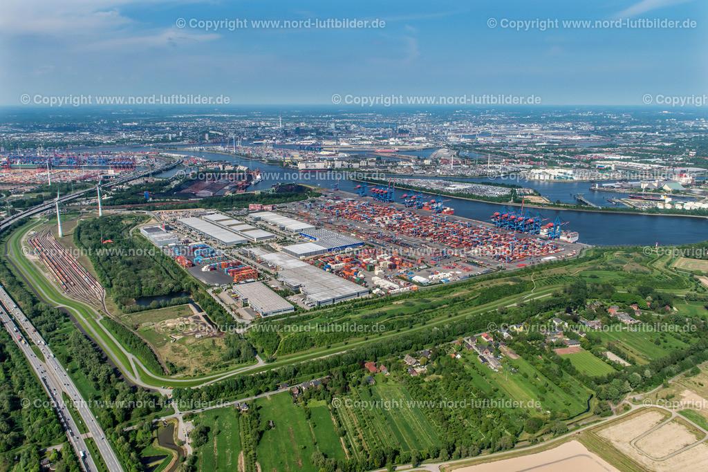 Hamburg Altenwerder CTA_HHLA_ELS_7175170517 | Hamburg - Aufnahmedatum: 17.05.2017, Aufnahmehöhe: 478 m, Koordinaten: N53°29.260' - E9°54.736', Bildgröße: 6844 x  4568 Pixel - Copyright 2017 by Martin Elsen, Kontakt: Tel.: +49 157 74581206, E-Mail: info@schoenes-foto.de  Schlagwörter:Hamburg,Luftbild, Luftbilder, Deutschland
