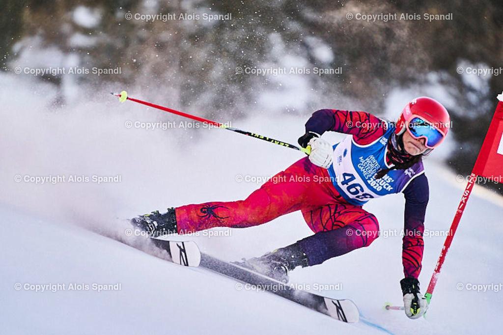 ALS6023_WWMG_GS-II_C | (C) FotoLois.com, Alois Spandl, WinterWorldMastersGames 2020 Innsbruck, Giant Slalom-II Gruppe C Damen, Patscherkofel Olympiaabfahrt, Mi 15. Jänner 2020.