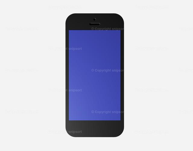 Smartphone (3D-Rendering) | Ein freigestellter Smarthone über weißem Hintergrund (3D Illustration)