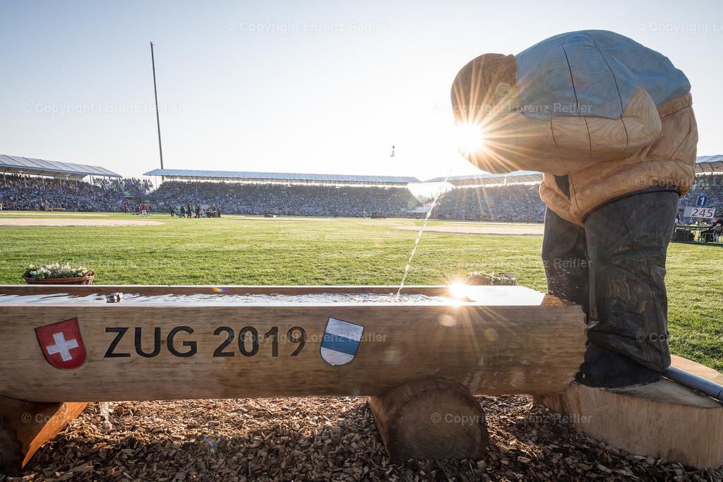 Schwingen -  Eidg. Schwing- und Älplerfest, ESAF Zug 2019 2019   Zug, 25.8.19, Schwingen - Eidg. Schwing- und Älplerfest, ESAF Zug 2019. (Lorenz Reifler)