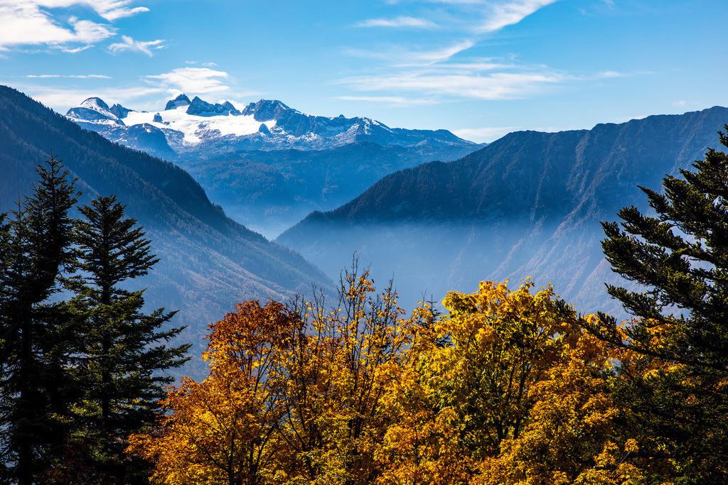 JT-171003-003 | Das Dachsteinmassiv, in der Steiermark, Oberösterreich in Österreich, Herbst,