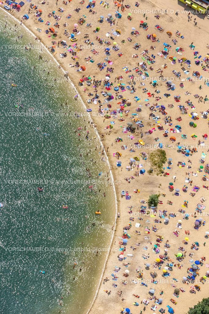 Haltern13081741 | Silbersee II aus der Luft, Sandstrand und türkisfarbenes Wasser, Luftbild von Haltern am See