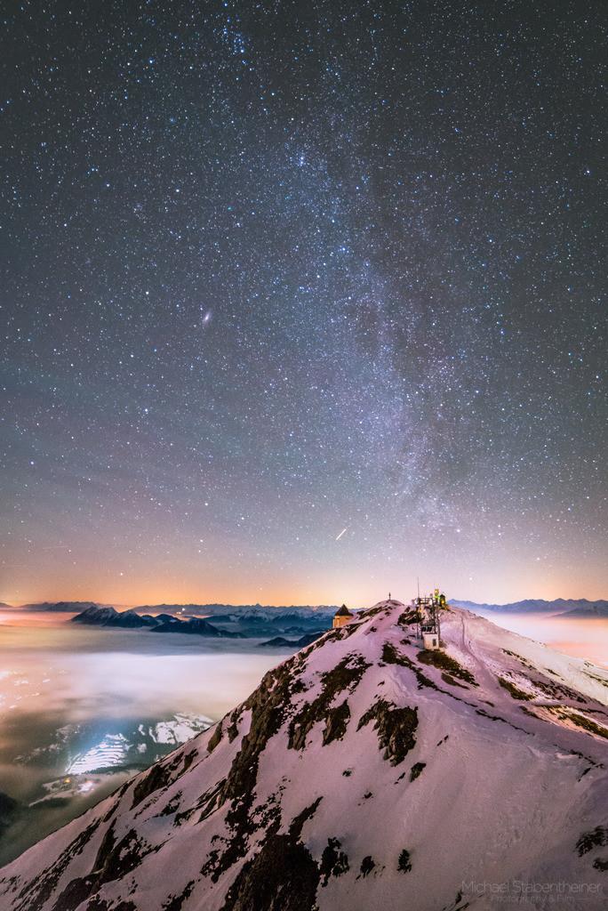 Nachts am Dobratsch  | Nachtaufnahme von Kärnten, aufgenommen am Dobratsch bei Villach