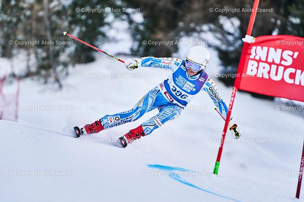 ALS5660_WWMG_GS-II_C | (C) FotoLois.com, Alois Spandl, WinterWorldMastersGames 2020 Innsbruck, Giant Slalom-II Gruppe C Damen, Patscherkofel Olympiaabfahrt, Mi 15. Jänner 2020.