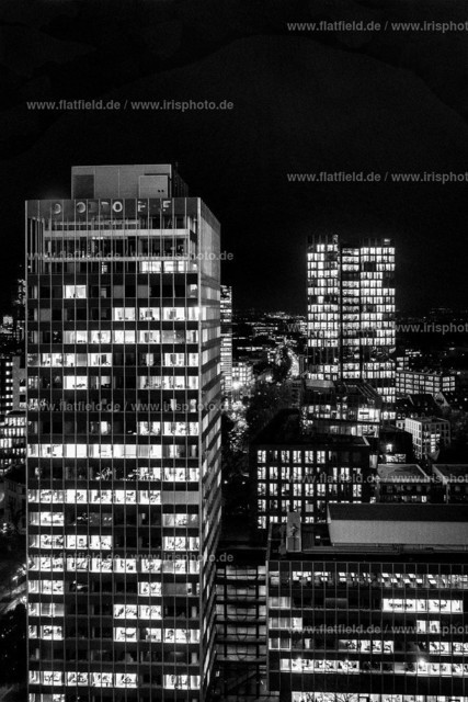 Not the colours of the city   Skyline Frankfurts in sw