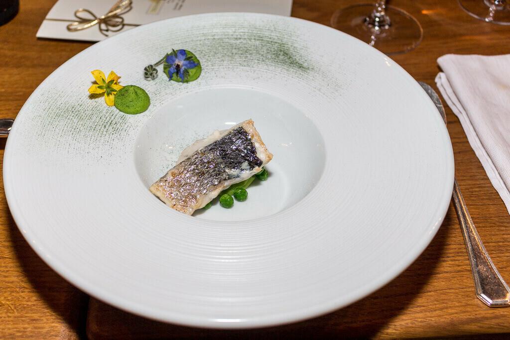 Fisch Vorspeise mit Erbsen