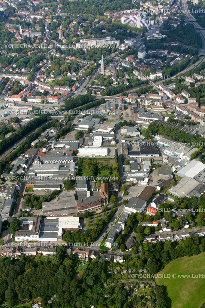 ES10094229 | Schuermannstrasse, Luftbild,  Essen, Ruhrgebiet, Nordrhein-Westfalen, Germany, Europa, Foto: hans@blossey.eu, 05.09.2010