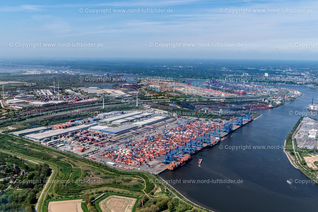 Hamburg Altenwerder_CTA HHLA_ELS_3739110517   Hamburg - Aufnahmedatum: 11.05.2017, Aufnahmehöhe: 543 m, Koordinaten: N53°29.239' - E9°57.050', Bildgröße: 6865 x  4582 Pixel - Copyright 2017 by Martin Elsen, Kontakt: Tel.: +49 157 74581206, E-Mail: info@schoenes-foto.de  Schlagwörter:Altenwerder,HHLA,CTA,Container Terminal,Container,Automatisiert,Luftbild, Luftbilder,