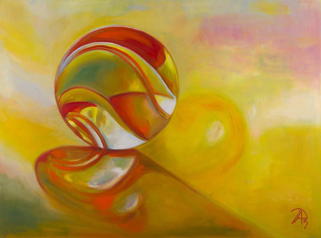 Eine Bunte Glaskugel | Originalformat: 60x80cm  -  Produktionsjahr: 2013