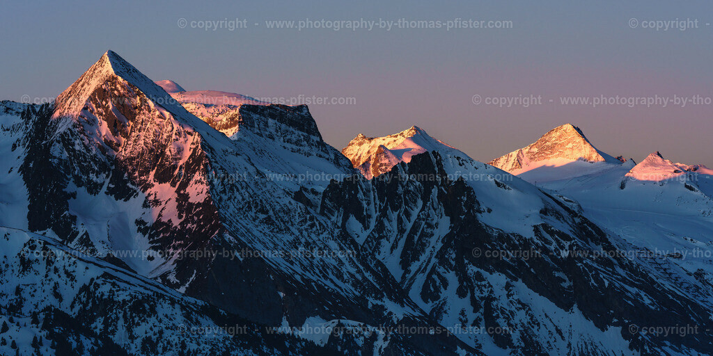Blick zum Tuxer Hauptkamm und Hintertuxer Gletscher