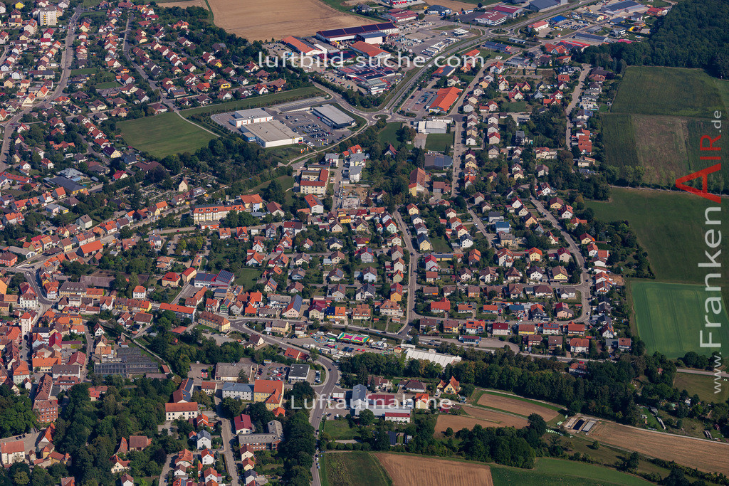 uffenheim-19-730   aktuelles Luftbild von  Uffenheim - Luftaufnahme wurde 2019 von https://frankenair.de mittels Flugzeug (keine Drohne) erstellt.