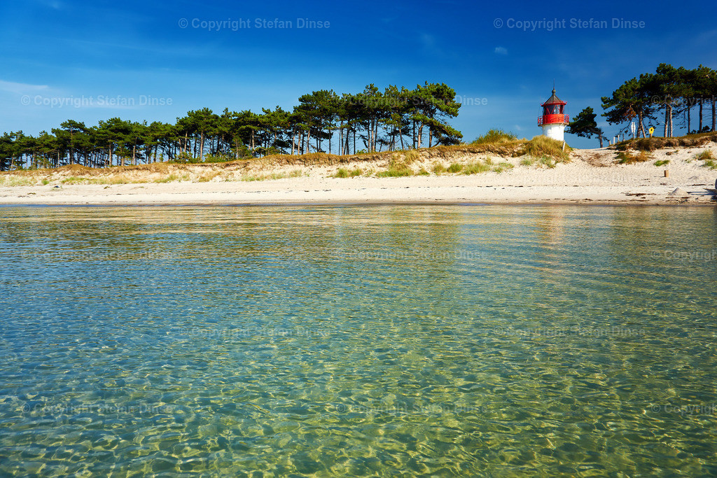 lighthouse Gellen on lonely summer beach | lighthouse Gellen on lonely summer beach