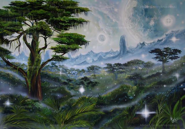 Avatar C | Phantastischer Realismus aus dem Atelier Conny Krakowski. Verkäuflich als Poster, Leinwanddruck und vieles mehr.
