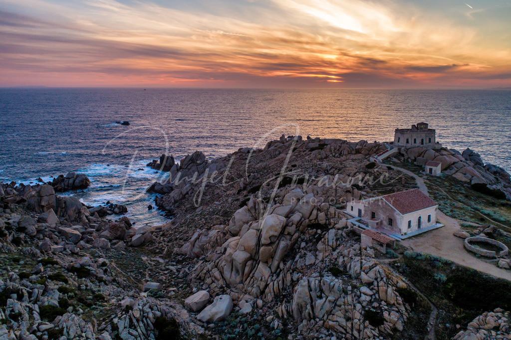 Capo Testa | Leuchtturm von Capo Testa, Sardinien