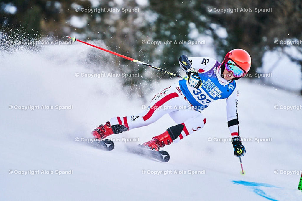 ALS5639_WWMG_GS-II_C | (C) FotoLois.com, Alois Spandl, WinterWorldMastersGames 2020 Innsbruck, Giant Slalom-II Gruppe C Damen, Patscherkofel Olympiaabfahrt, Mi 15. Jänner 2020.