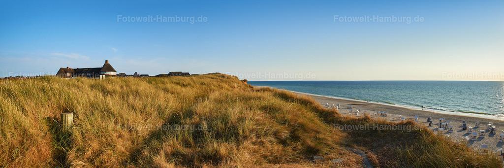 10180810 - Dünenlandschaft am roten Kliff | Panoramablick am roten Kliff auf Sylt.