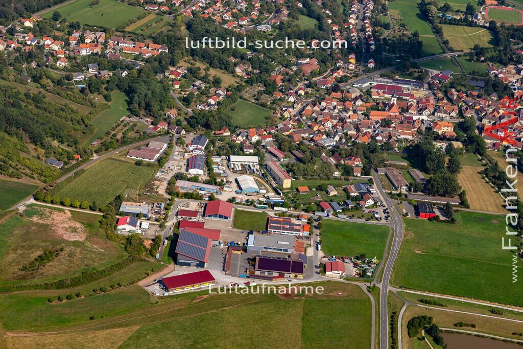 burghaslach-19-776 | aktuelles Luftbild von  Burghaslach - Luftaufnahme wurde 2019 von https://frankenair.de mittels Flugzeug (keine Drohne) erstellt.