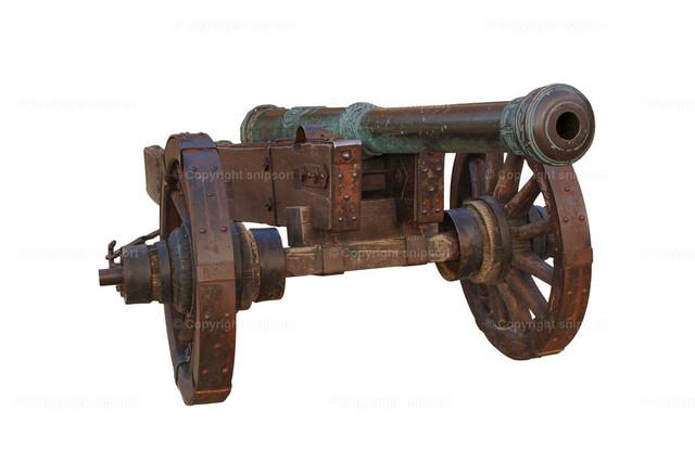 Historische Kanone (freigestellt)