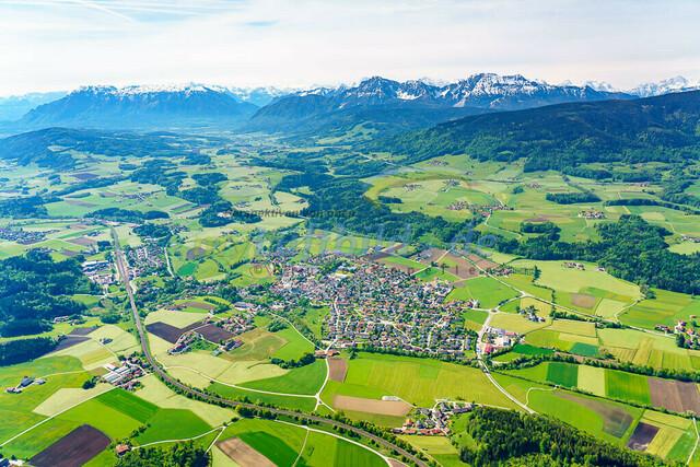 luftbild-teisendorf-bruno-kapeller-21 | Luftaufnahme von Teisendorf im Fruehling 2019