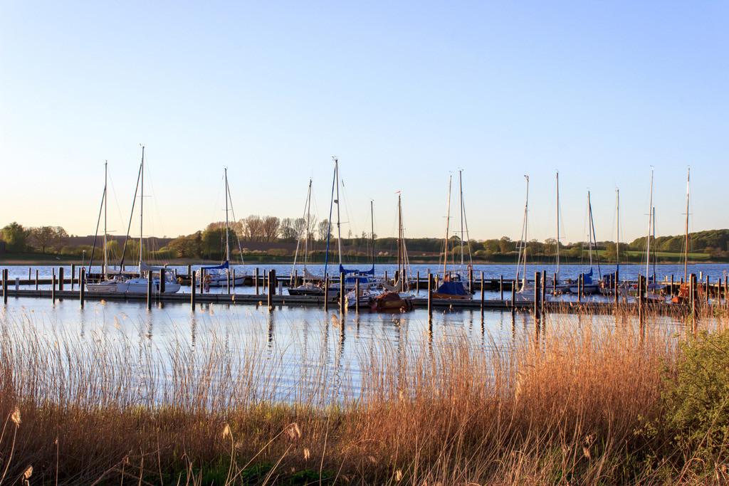 Bohnert an der Schlei   Yachthafen in Bohnert an der Schlei