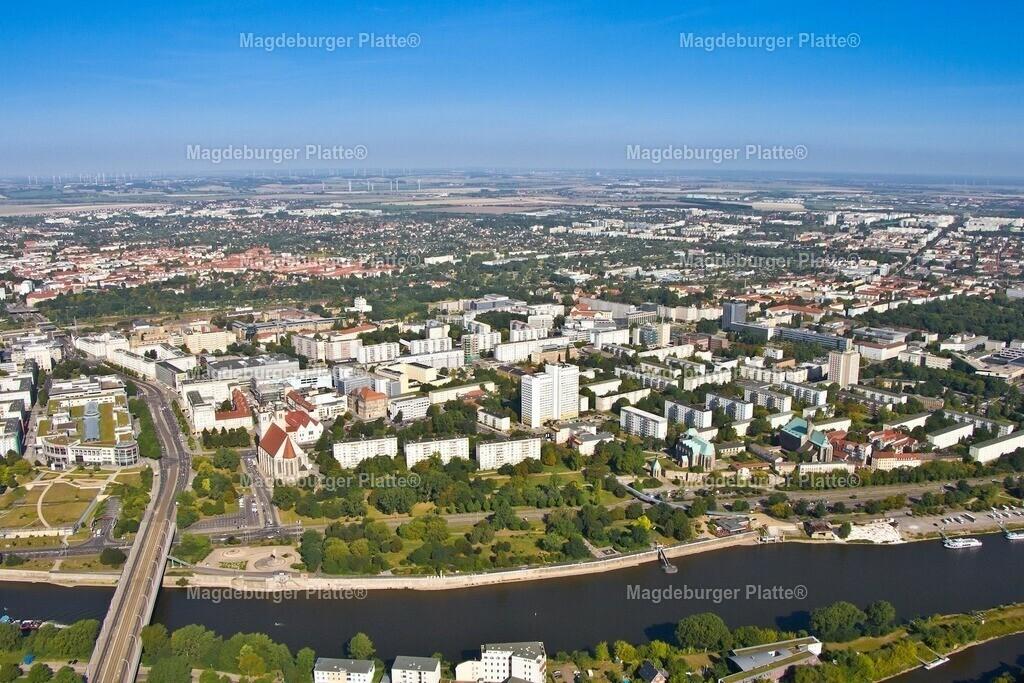 Luftbild Magdeburg Mitte Johanneskirche Jacobstrasse IMG_2202
