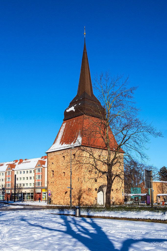 Blick auf das Steintor im Winter in der Hansestadt Rostock | Blick auf das Steintor im Winter in der Hansestadt Rostock.
