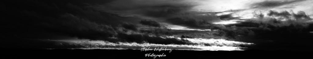 Wolkenformation in BW   Wolkenformationen in Schwarz-Weiss