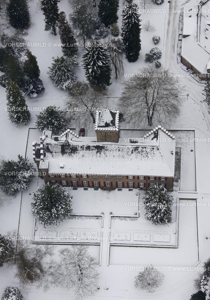KT10011099   Schnee,  Kettwig, Essen, Ruhrgebiet, Nordrhein-Westfalen, Deutschland, Europa, Foto: Luftbild Hans Blossey, Copyright: hans@blossey.eu, 06.01.2010, E 006° 57' 45.94