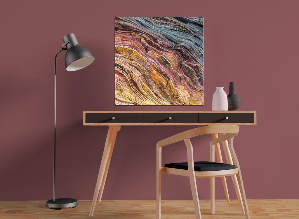 Abstraktes Steinmotiv  | Kleinformatiges Designelement zur Raumgestaltung