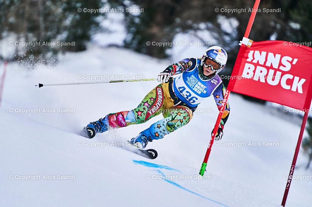 ALS5853_WWMG_GS-II_C | (C) FotoLois.com, Alois Spandl, WinterWorldMastersGames 2020 Innsbruck, Giant Slalom-II Gruppe C Damen, Patscherkofel Olympiaabfahrt, Mi 15. Jänner 2020.
