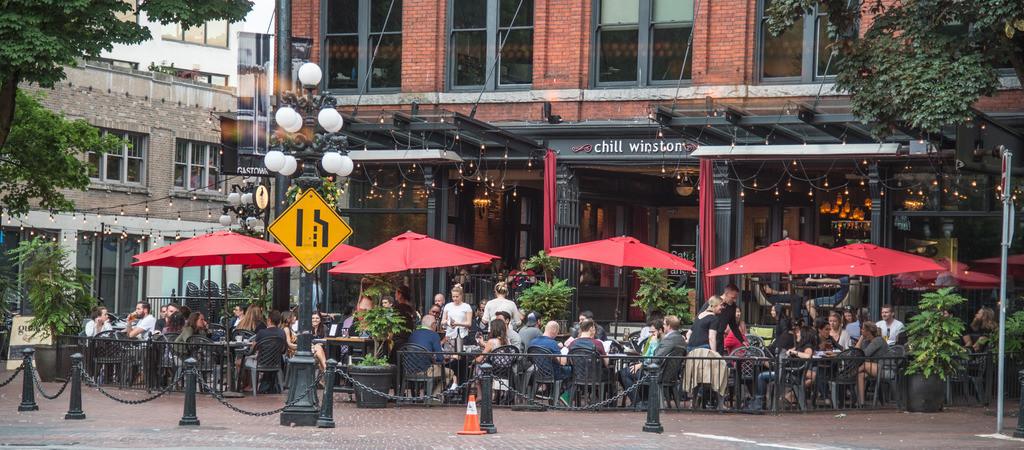 Straßencafe in Gastown, Vancouver