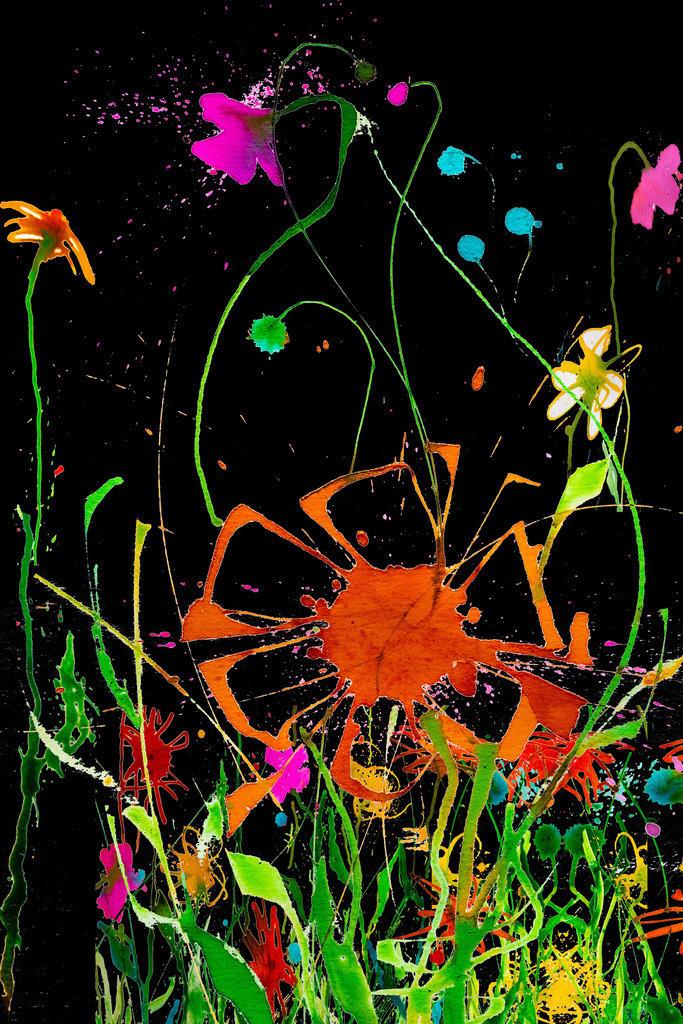 Blumen-Motiv-5 | Projektionsmotive der Kunstevents