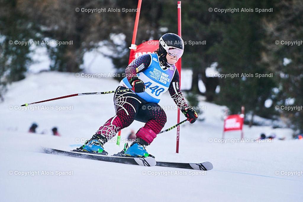 ALS5877_WWMG_GS-II_C | (C) FotoLois.com, Alois Spandl, WinterWorldMastersGames 2020 Innsbruck, Giant Slalom-II Gruppe C Damen, Patscherkofel Olympiaabfahrt, Mi 15. Jänner 2020.