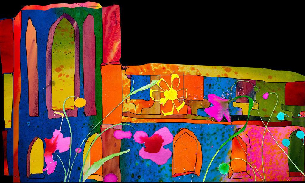 Haus-Motiv 1   Projektionsmotive der Kunstevents